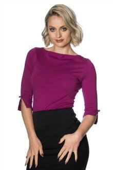 Banned Retro 50s Oonagh Purple Top