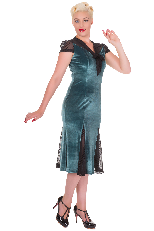 Banned Green Sensation Midi F1940s Dress