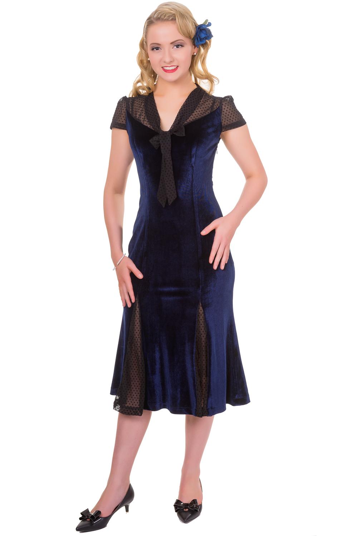 Banned Blue Sensation Midi F1940s Dress