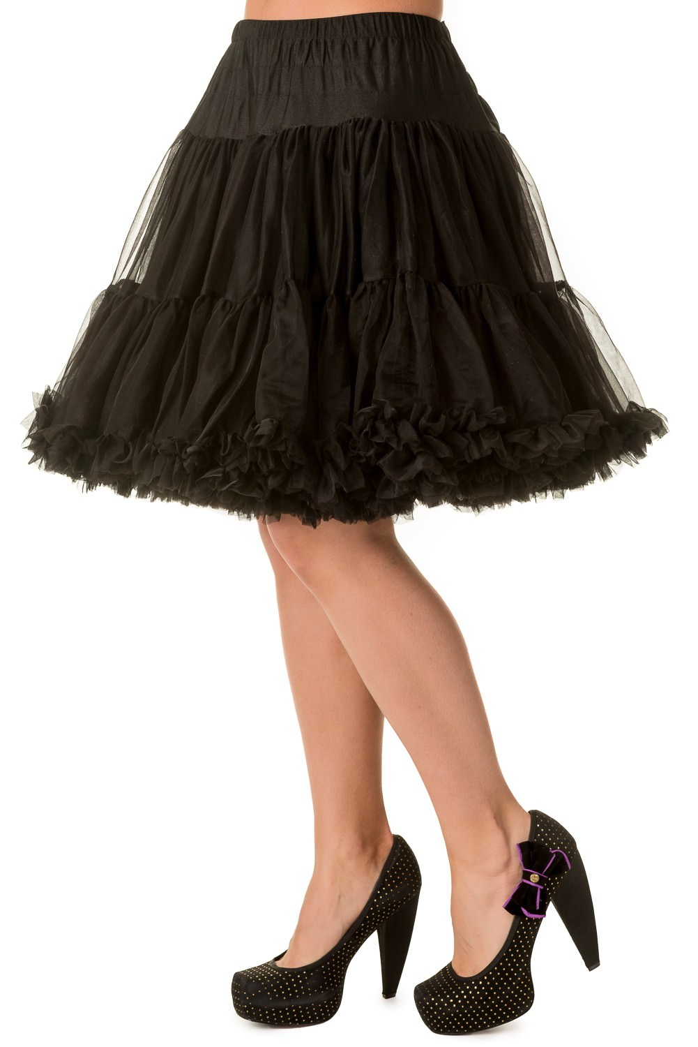 Banned Retro 50s Walkabout Black Petticoat