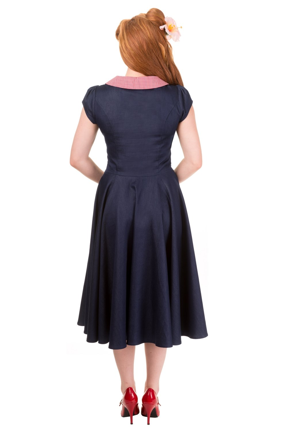 Banned Blueberry Hill Peter Pan Gingham Dress