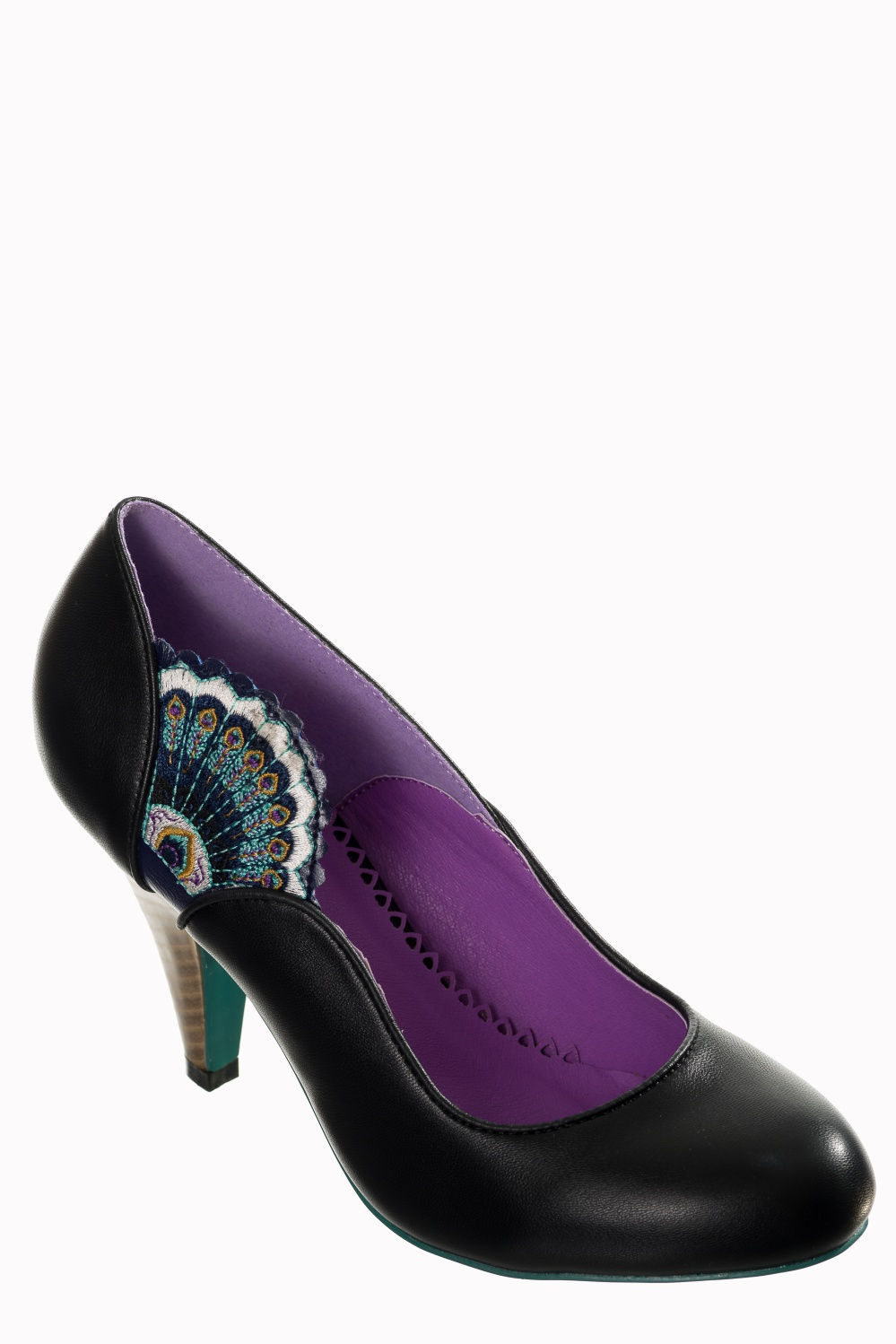 Dancing Days Sway 50s Black Peacock Shoes