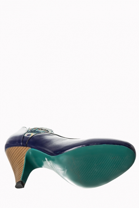 Dancing Days Sway 50s Navy Peacock Shoes