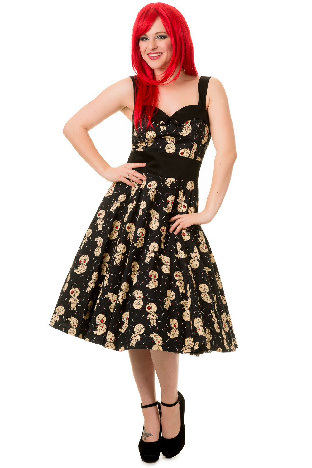 Banned Voodoo Dolls Distractions Midi Dress