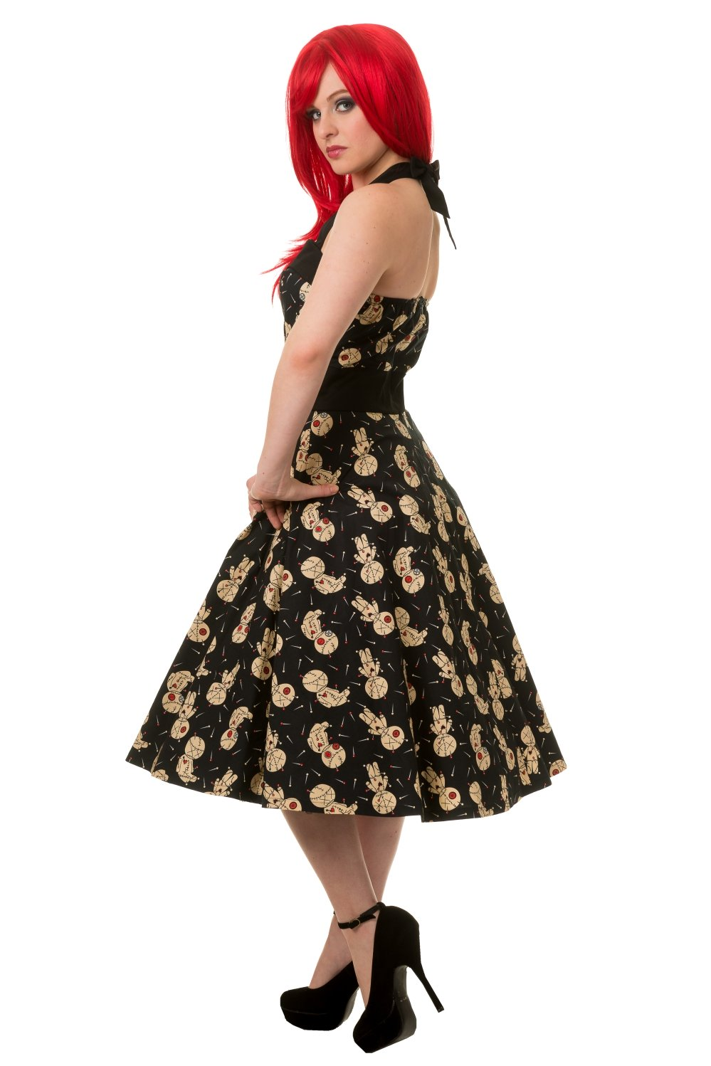 Banned Distractions Voodoo Dolls Midi Dress