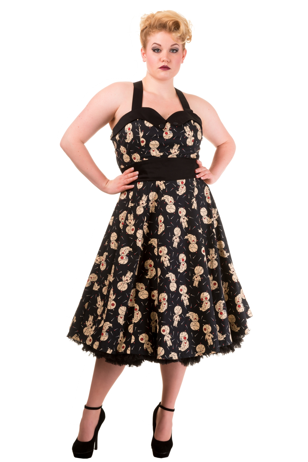 Banned Voodoo Dolls Distractions Plus Size Dress