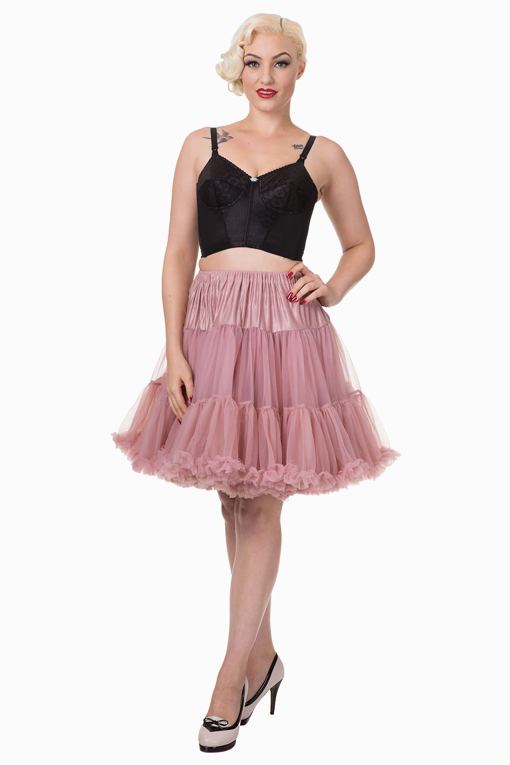 Banned Retro 50s Walkabout Dusty Pink Petticoat