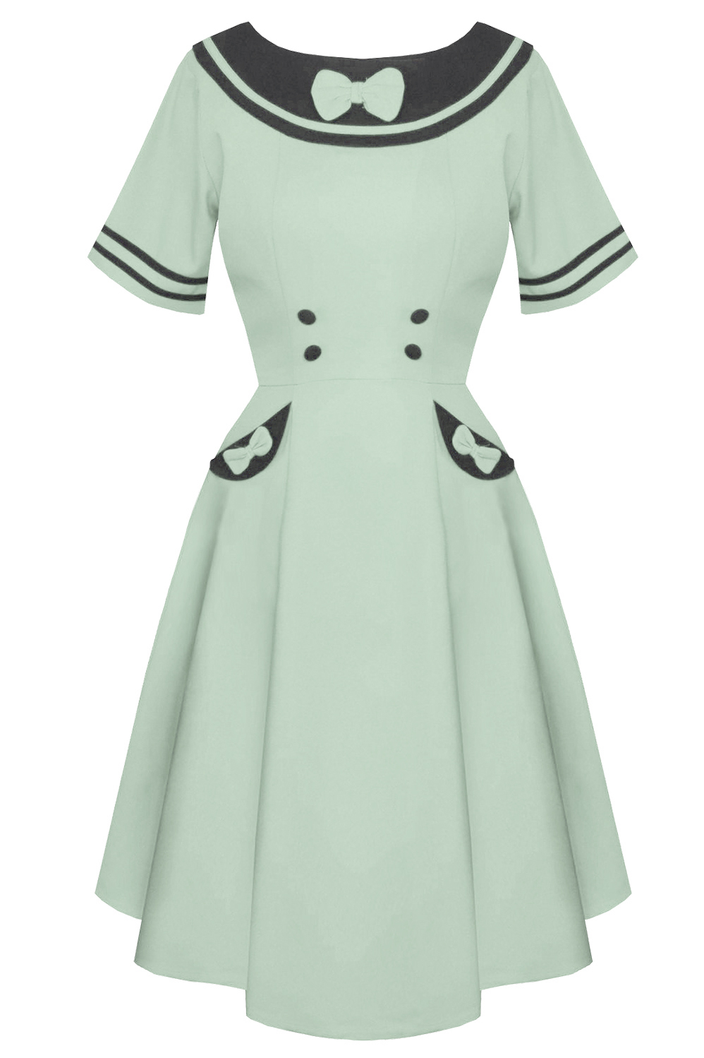 Banned Eliza Ming Green Rockabilly Retro Dress