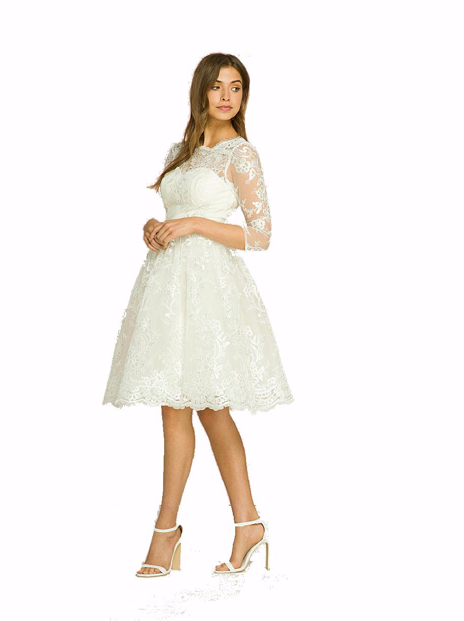 Veronica Cream 1950s Wedding Tea Dress