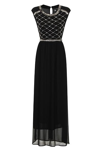 Black Chiffon Lizzie Maxi Prom Dress - Nazz Collection