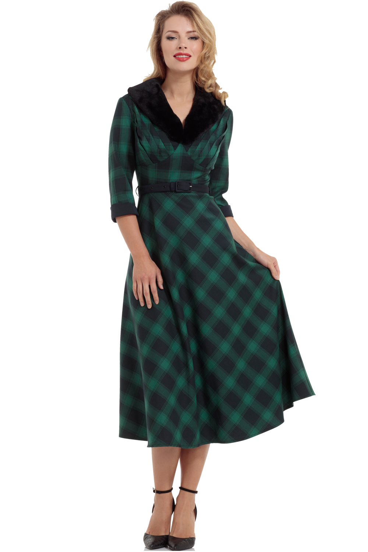 Vixen Lola Tartan Dress