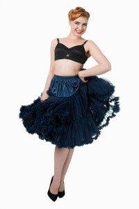Banned Retro 50s Lizzy Lifeforms Navy Petticoat