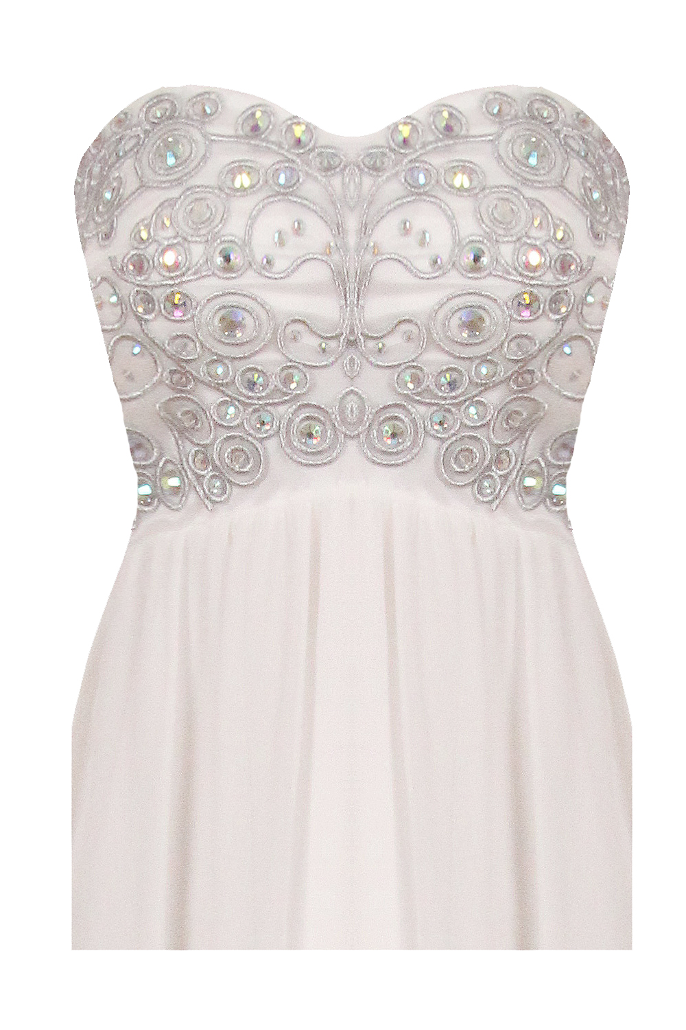 White Tiffany Nazz Collection Prom Dress