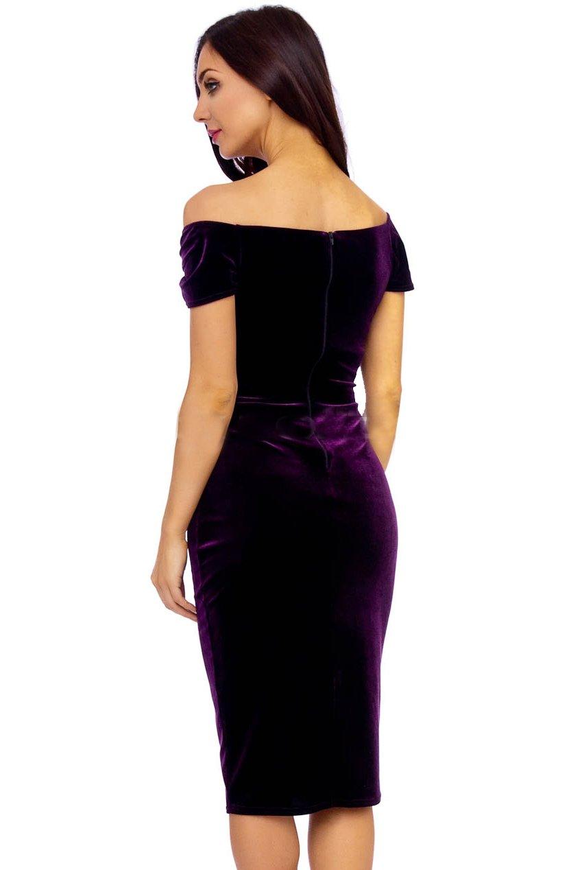 Vintage 50s Purple Marilyn Velvet Wiggle Dress