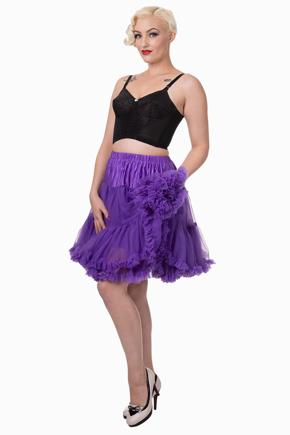 Banned Retro 50s Walkabout Purple Petticoat