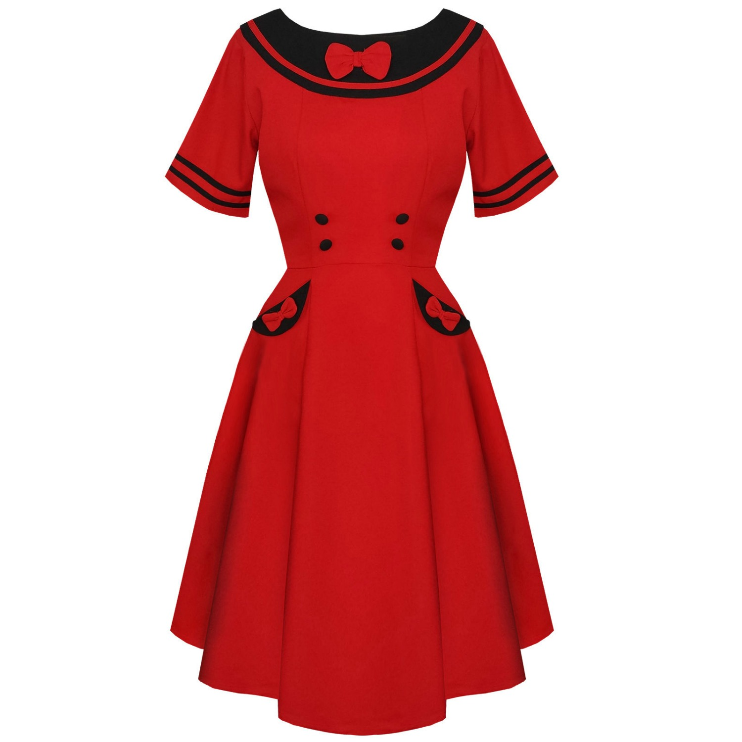 Red Banned Eliza Dress