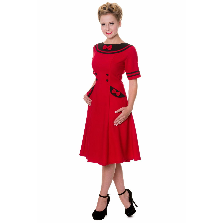 Banned Red Eliza Vintage Rockabilly Dress