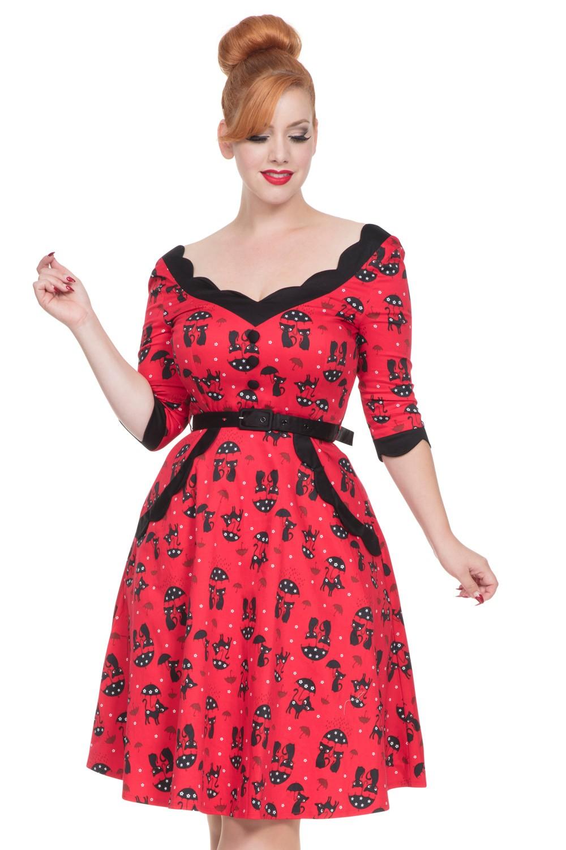 Vixen Red Katnis Swing Dress