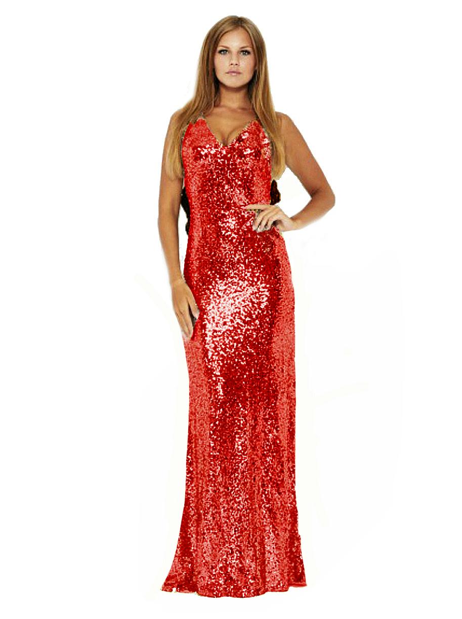 Red Sequin Fishtail Mermaid Dress