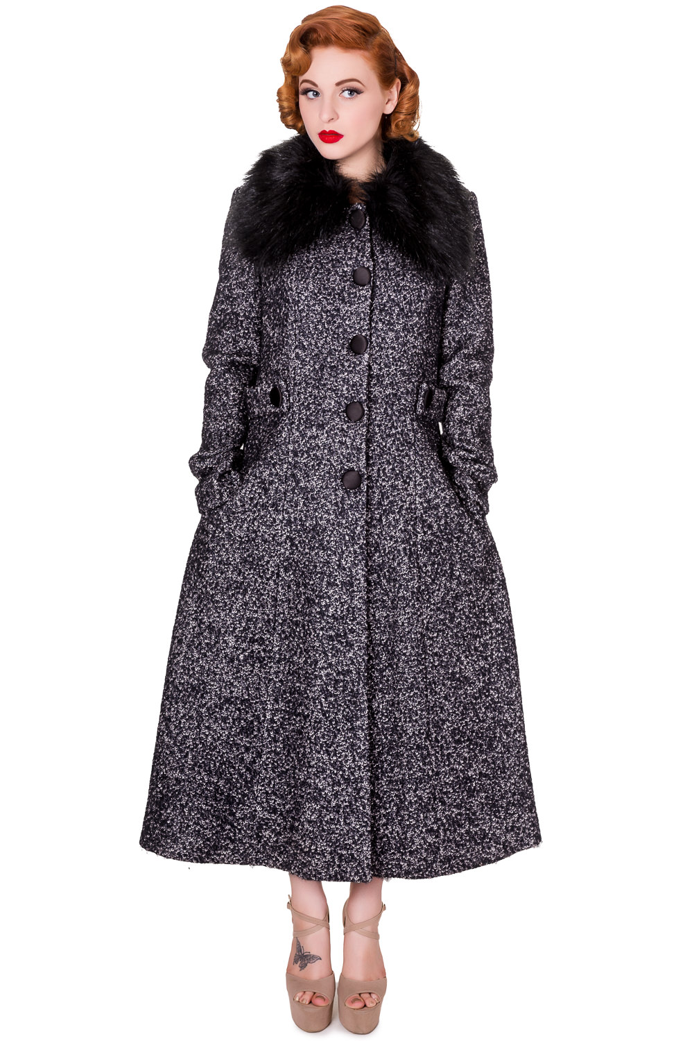Banned By Dancing Days Simple Game Grey Winter Coat