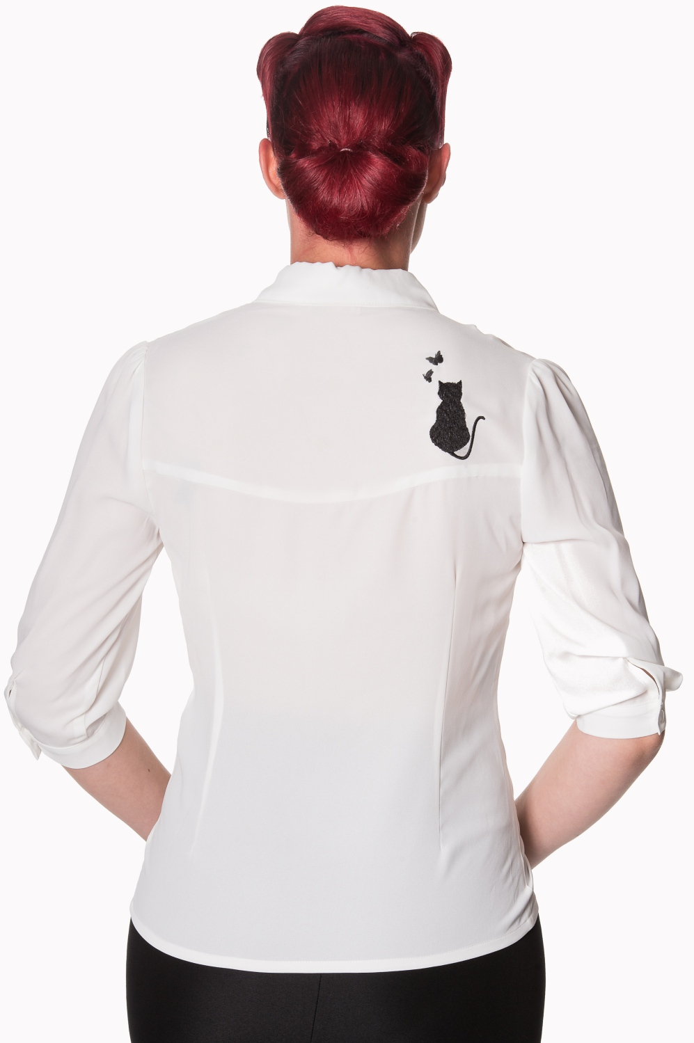 Banned Retro 60s Snowbird Blouse In Ivory White