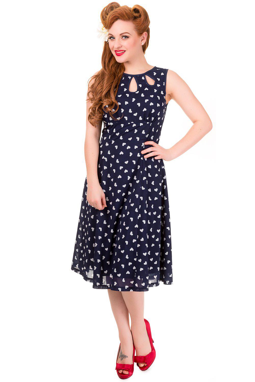 Banned Navy Songbird Dress