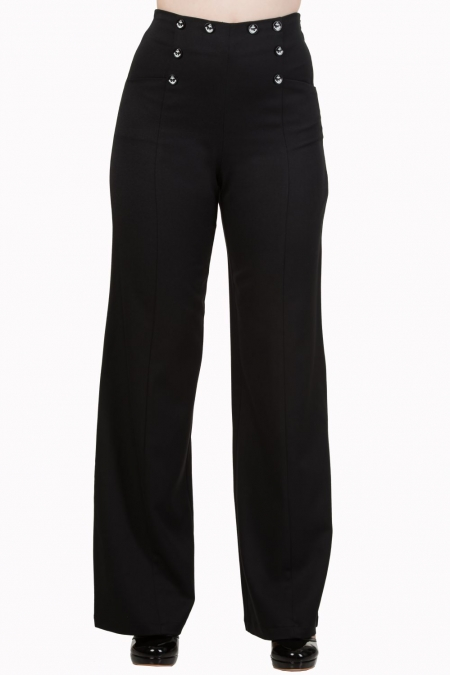 Dancing Days by Banned 40s Stay Awhile Black Trousers