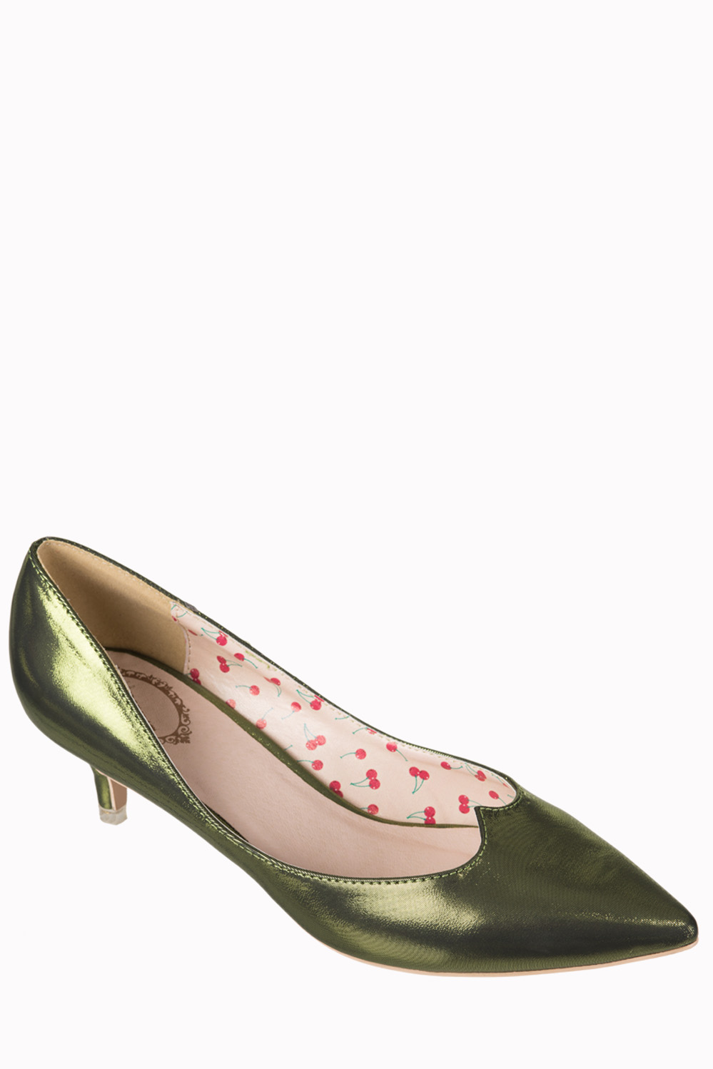 Dancing Days By Banned 1940s Olive Green Kitten Heels