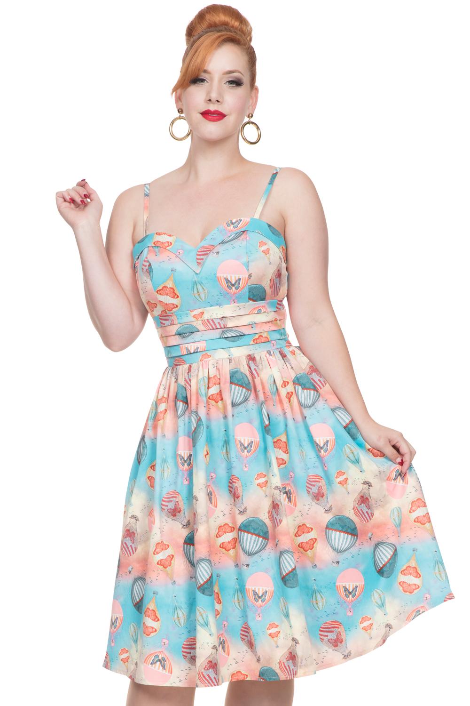 Vixen 50s Aria Balloon Swing Blue Dress