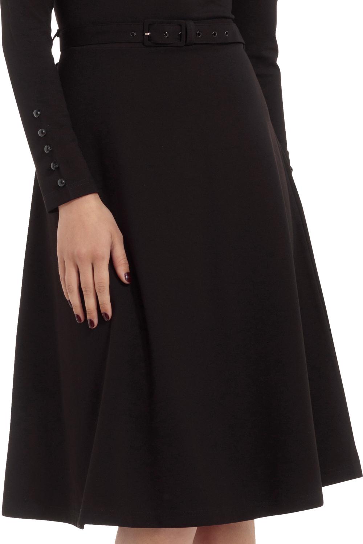 Voodoo Vixen Black Dita 1950s Swing Dress