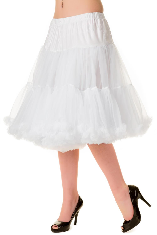 Banned Retro 50s Starlite White Petticoat