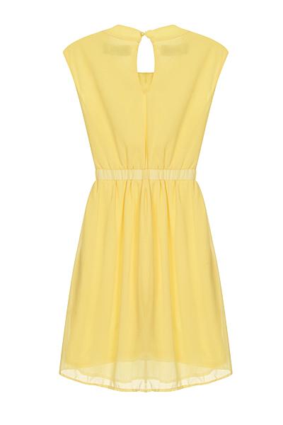 Yellow Chiffon Nazz Collection Dress