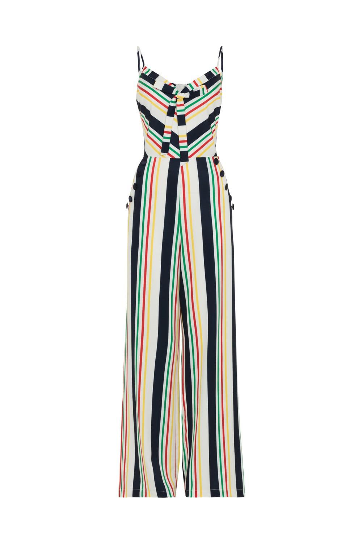 Voodoo Vixen Zara Stripe 70s Jumpsuit
