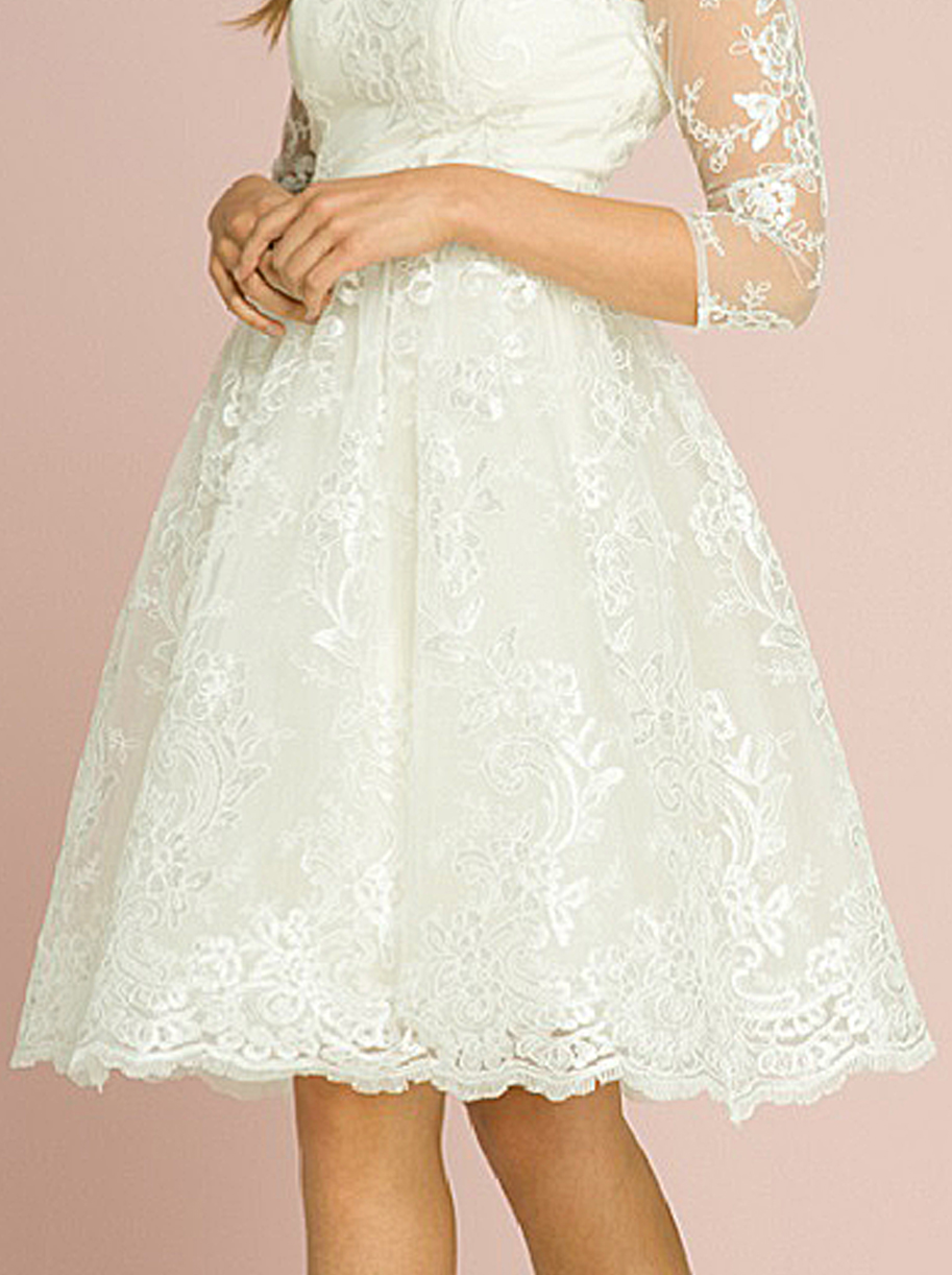 Veronica Cream 1950s Wedding Tea Dress